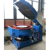 Vibratory finishing machine with free noise cover
