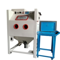 Automatic sand blasting cabinet with 4 guns for blasting mou